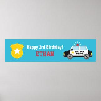 Bandeira do partido de aniversário de criança do posteres