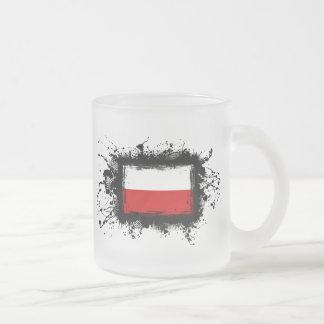 Bandeira do Polônia Caneca De Café Vidro Jateado