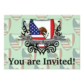 Bandeira do protetor do méxico-americano convite 12.7 x 17.78cm