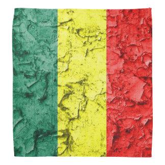 Bandeira do rasta do vintage bandana