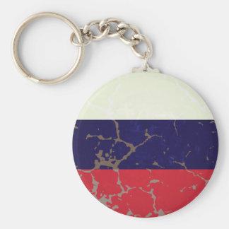 Bandeira do russo chaveiros