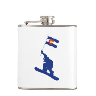 Bandeira do Snowboard de Colorado Cantil