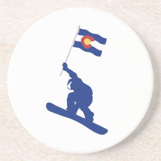 Bandeira do Snowboard de Colorado Porta-copos