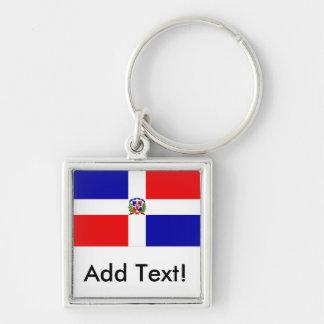 Bandeira dominiquense chaveiros
