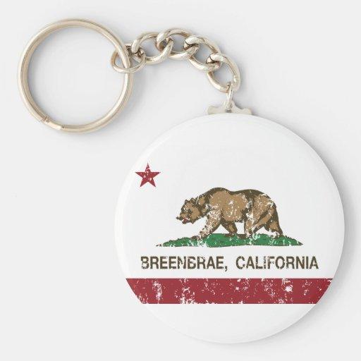 Bandeira dos breenbrae da bandeira de Califórnia Chaveiros