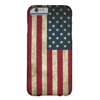 Bandeira dos E.U. do Grunge Capa Barely There Para iPhone 6