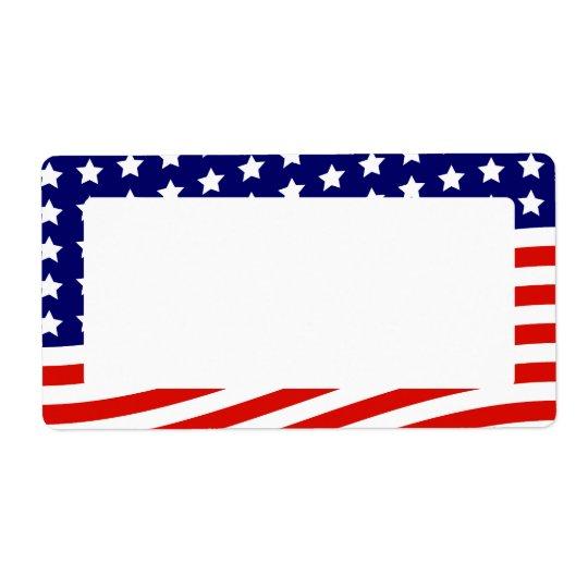 Bandeira dos Estados Unidos bandeira americana o 4 Etiqueta De Frete