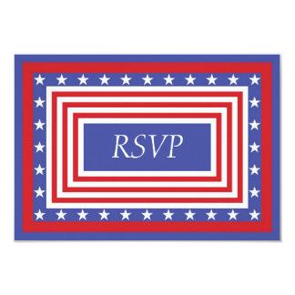 Bandeira dos Estados Unidos patriótica RSVP Convites
