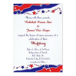 Bandeira dos Estados Unidos que Wedding Convite 12.7 X 17.78cm