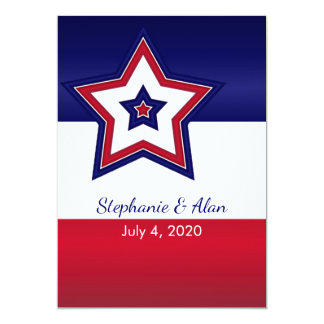 Bandeira dos Estados Unidos que Wedding convites