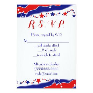 Bandeira dos Estados Unidos RSVP Convite 8.89 X 12.7cm