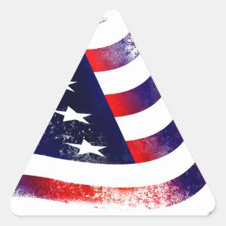 Bandeira dos EUA Adesivo Triangular