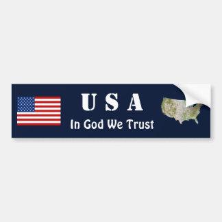 Bandeira dos EUA + Autocolante no vidro traseiro Adesivo Para Carro