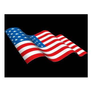 Bandeira dos EUA Cartão Postal