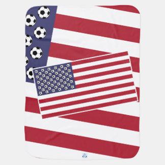 Bandeira dos EUA do futebol do futebol Manta Para Bebe
