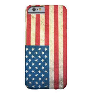 Bandeira dos EUA do Grunge Capa Barely There Para iPhone 6