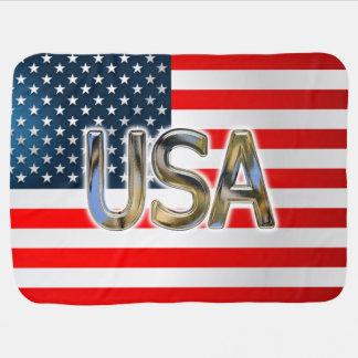 Bandeira dos EUA Manta Para Bebe