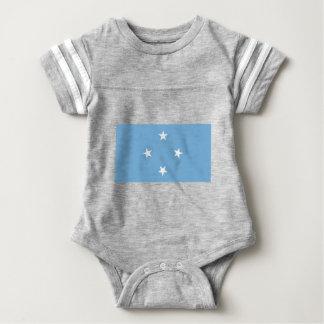 Bandeira dos Federated States of Micronesia Body Para Bebê