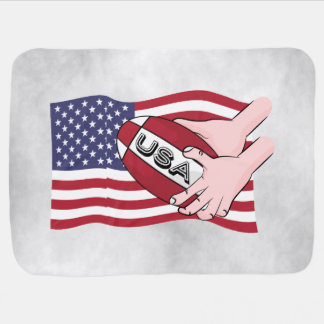 Bandeira dos suportes da equipe do rugby dos EUA Cobertorzinhos Para Bebe