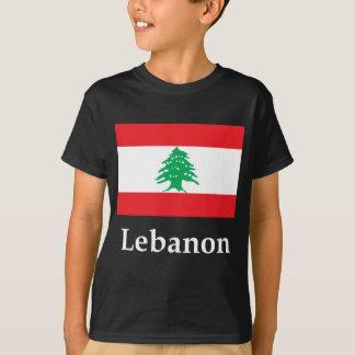 Bandeira e nome de Líbano Tshirts