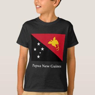 Bandeira e nome de Papuá-Nova Guiné Tshirt