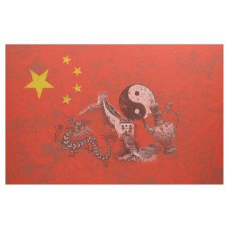 Bandeira e símbolos de China ID158 Tecido