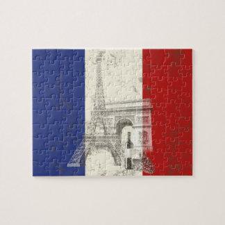 Bandeira e símbolos de France ID156 Quebra-cabeça