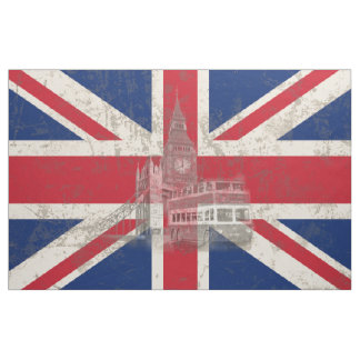 Bandeira e símbolos de Grâ Bretanha ID154 Tecido