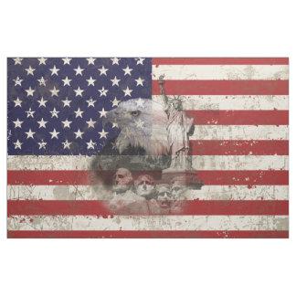 Bandeira e símbolos dos Estados Unidos ID155 Tecido