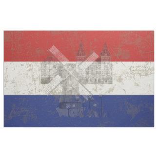 Bandeira e símbolos dos Países Baixos V2 ID151 Tecido