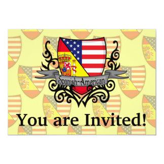 Bandeira Espanhol-Americana do protetor Convite 12.7 X 17.78cm
