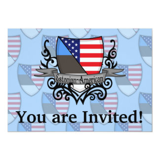 Bandeira Estónio-Americana do protetor Convite 12.7 X 17.78cm