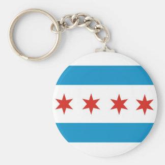 bandeira EUA América da cidade de Chicago Chaveiro