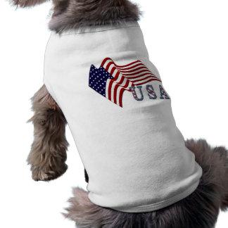 Bandeira EUA Camisa Para Cães