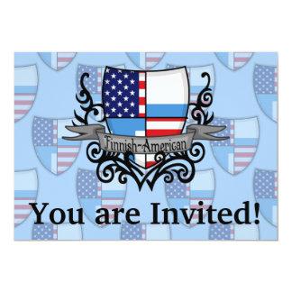 Bandeira Finlandês-Americana do protetor Convite 12.7 X 17.78cm