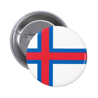 Bandeira FO de Faroe Island Bóton Redondo 5.08cm