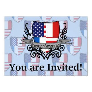 Bandeira Francês-Americana do protetor Convite 12.7 X 17.78cm