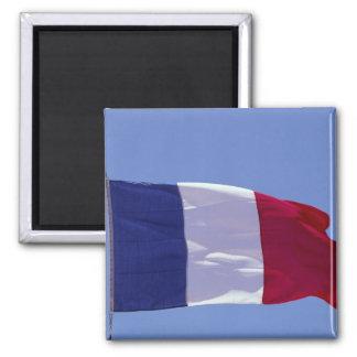 Bandeira francesa ímã quadrado