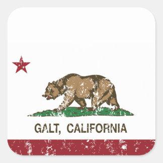 Bandeira Galt do estado de Califórnia Adesivo Em Forma Quadrada