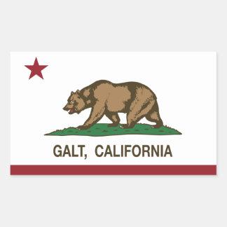 Bandeira Galt do estado de Califórnia Adesivo Retangular