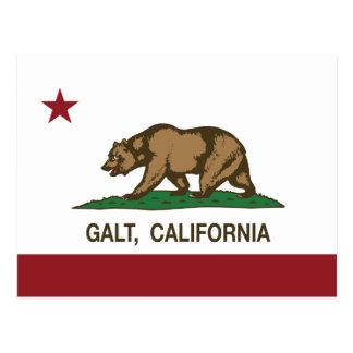 Bandeira Galt do estado de Califórnia Cartão Postal