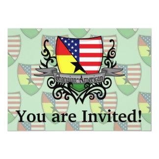 Bandeira Ganês-Americana do protetor Convite 12.7 X 17.78cm