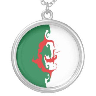 Bandeira Gnarly de Argélia Colar Com Pendente Redondo