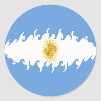 Bandeira Gnarly de Argentina Adesivos Em Formato Redondos