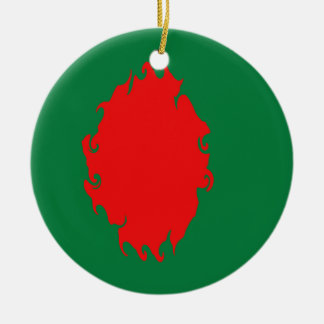 Bandeira Gnarly de Bangladesh Ornamento Para Arvores De Natal
