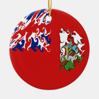 Bandeira Gnarly de Bermuda Ornamento De Cerâmica Redondo