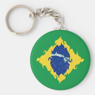 Bandeira Gnarly de Brasil Chaveiro