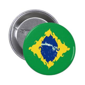 Bandeira Gnarly de Brasil Pins
