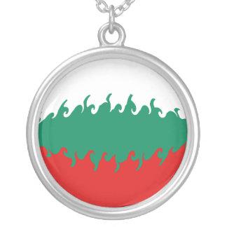 Bandeira Gnarly de Bulgária Colar Com Pendente Redondo