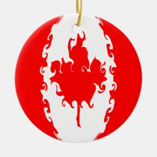 Bandeira Gnarly de Canadá Ornamento De Cerâmica Redondo